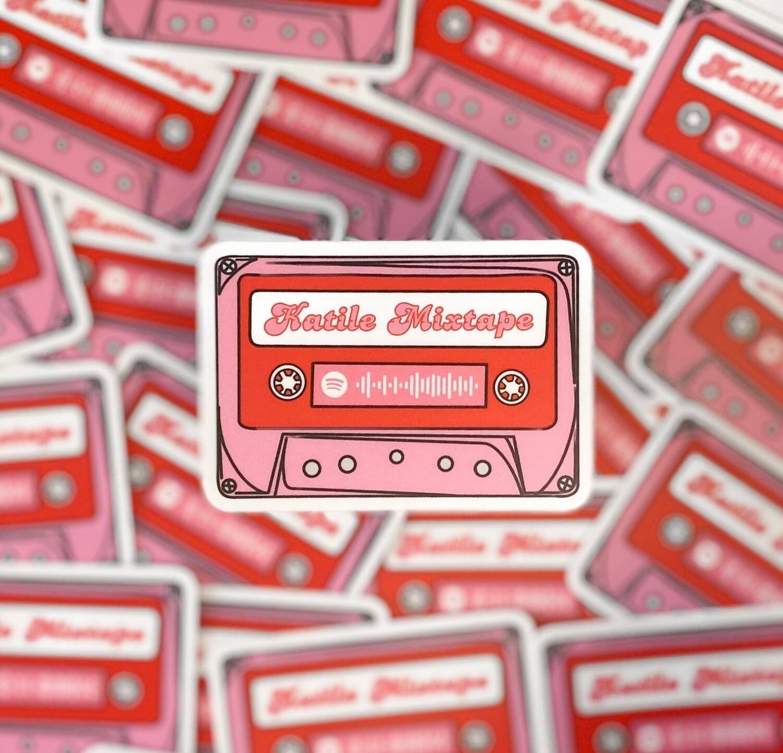 90's Cassette Tape Waterproof Sticker