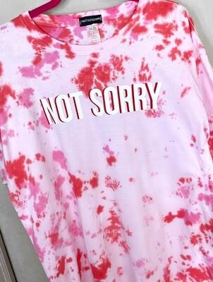 'Not Sorry' Tie Dye Oversized - T