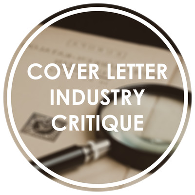 Cover Letter Industry Critique