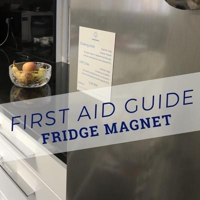 1 Baby and 1 Child basic life support fridge magnets