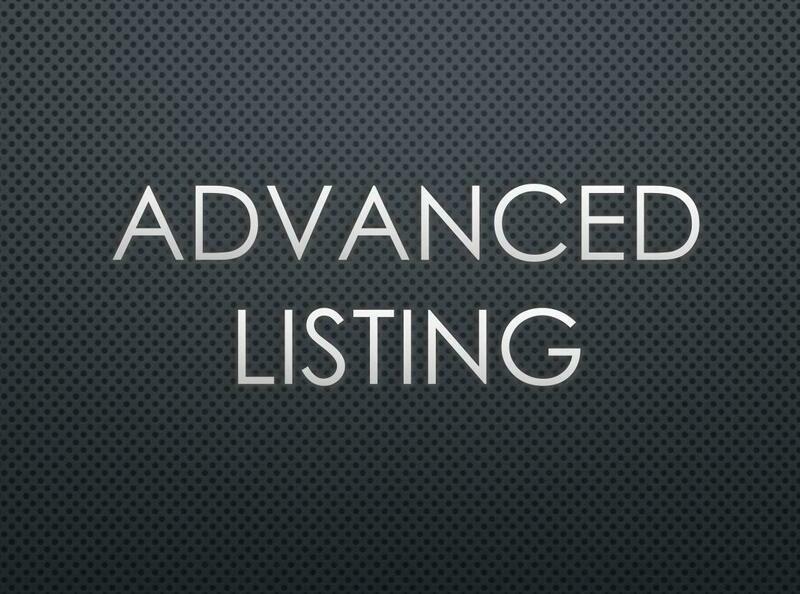 Advanced Listing