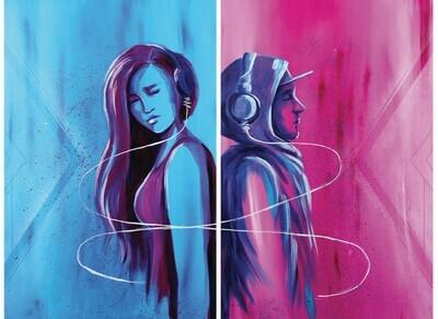 """Apart"" Art Collaboration with Justin Shelton 2 print set"