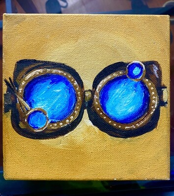 Steampunk goggles painting