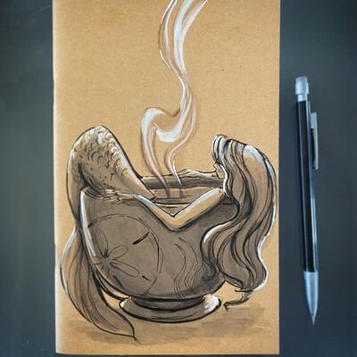 """""""Sea Cup"""" Mermaid sketchbook"""