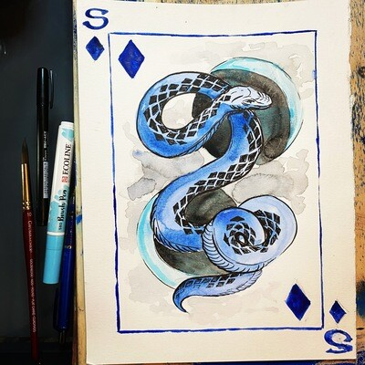 Blue Snake painting