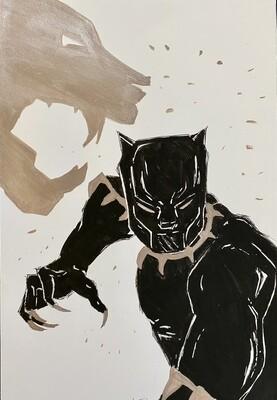 Black Panther ink and metallic