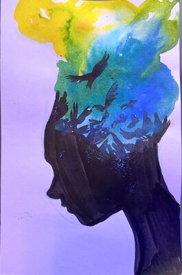 Free mind watercolor and ink painting