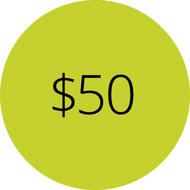 $50 - In Kind Donation