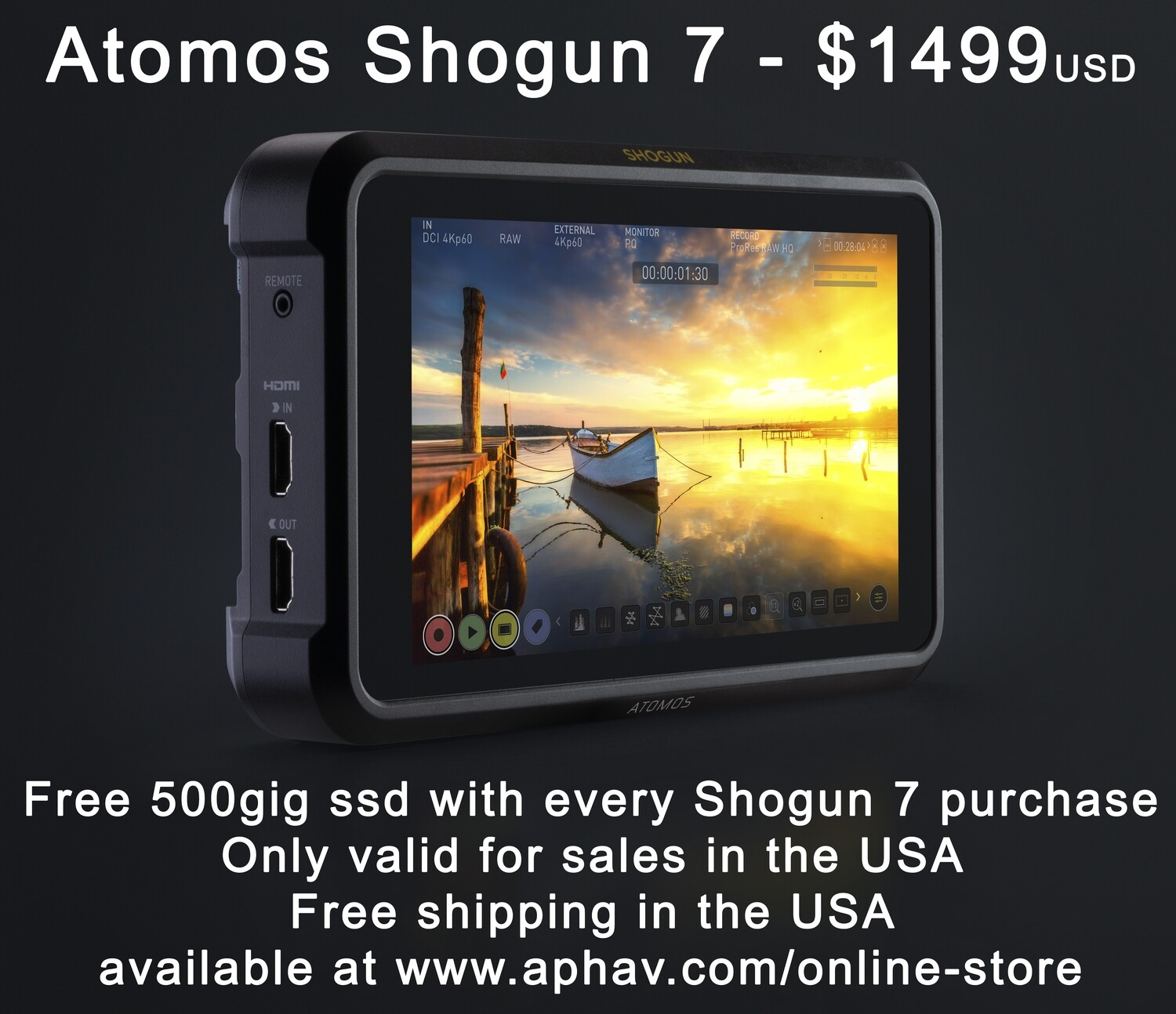 Atomos Shogun 7 Now Just $1299.00