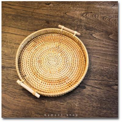 Wicker rattan tray Round shape