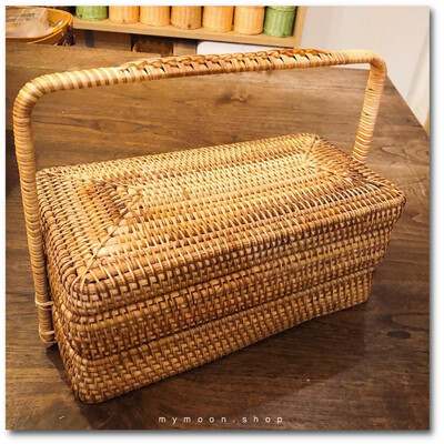 Tiffin Rattan Woven Large Size