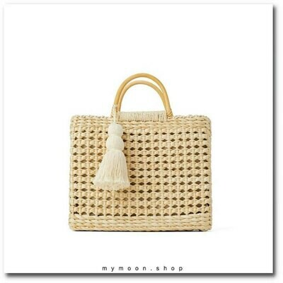 ​Handmade Straw Handbag and Shoulder Bag with tassel