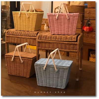 Super cute children's picnic basket