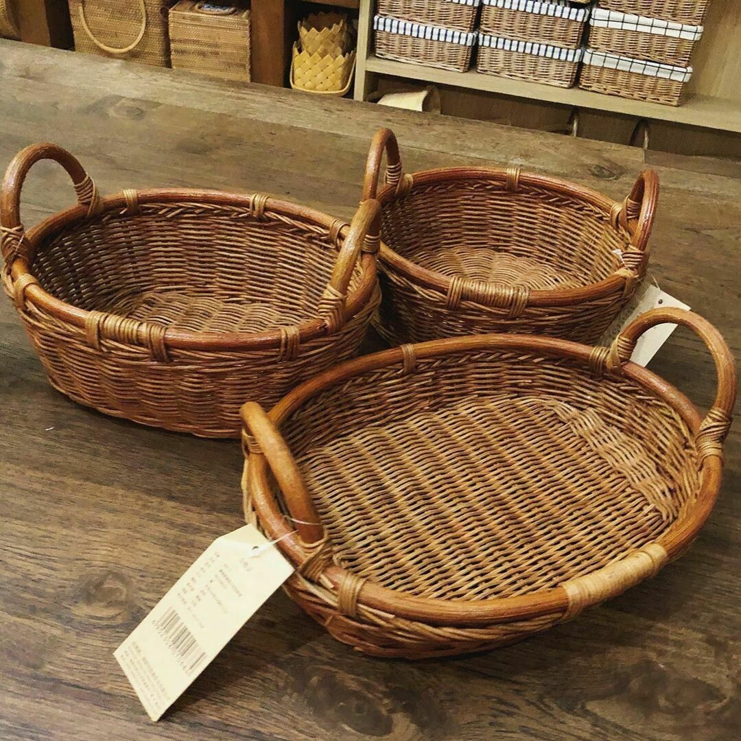 Rattan Basket 3 sizes 3 shapes