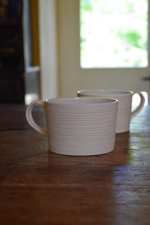 Cornish stoneware mugs