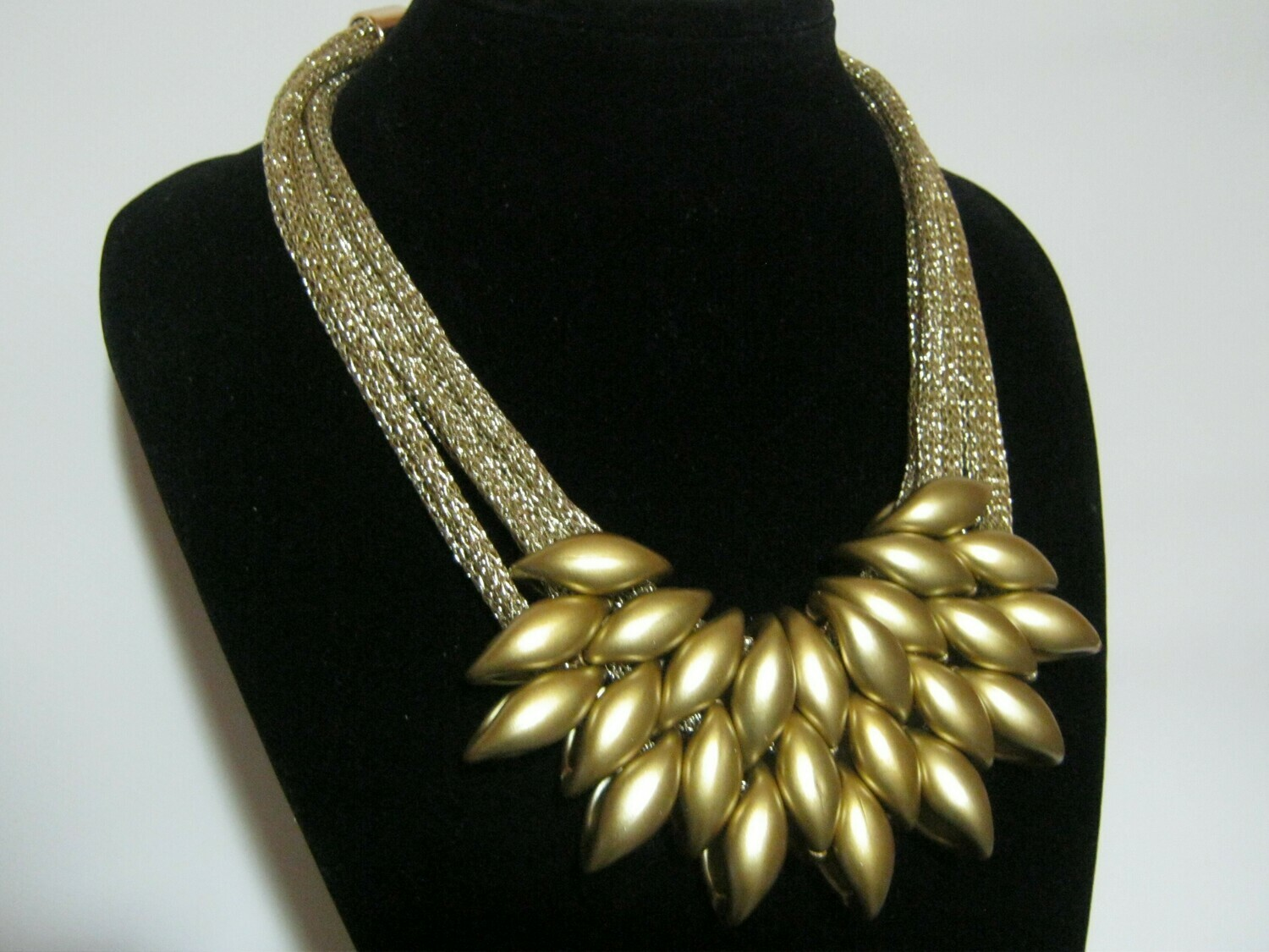 Chunky Choker Multi-Layer Necklace Goldplated - women's