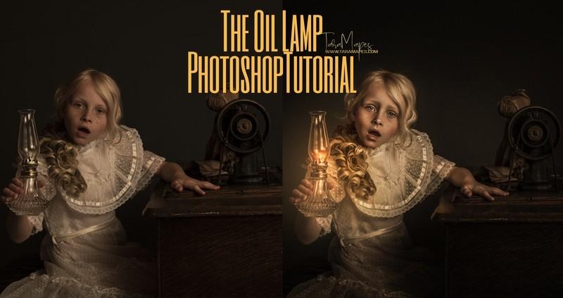 The Oil Lamp Fine Art Painterly Photoshop Tutorial - Fine Art Painterly Tutorial by Tara Mapes