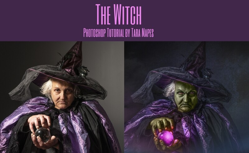 The Witch Painterly Fine Art Photoshop Tutorial by Tara Mapes