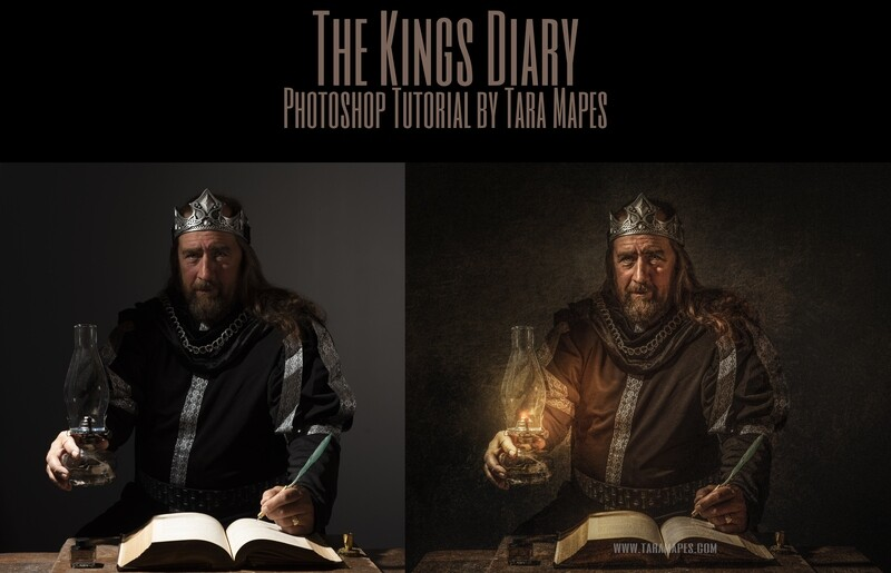 The King's Diary Painterly Fine Art Photoshop Tutorial by Tara Mapes