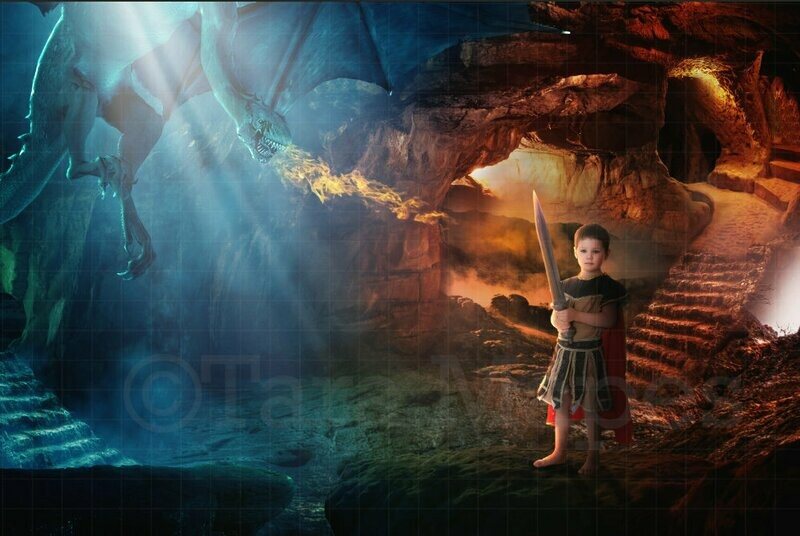 Dragon Cave Digital Background / Backdrop