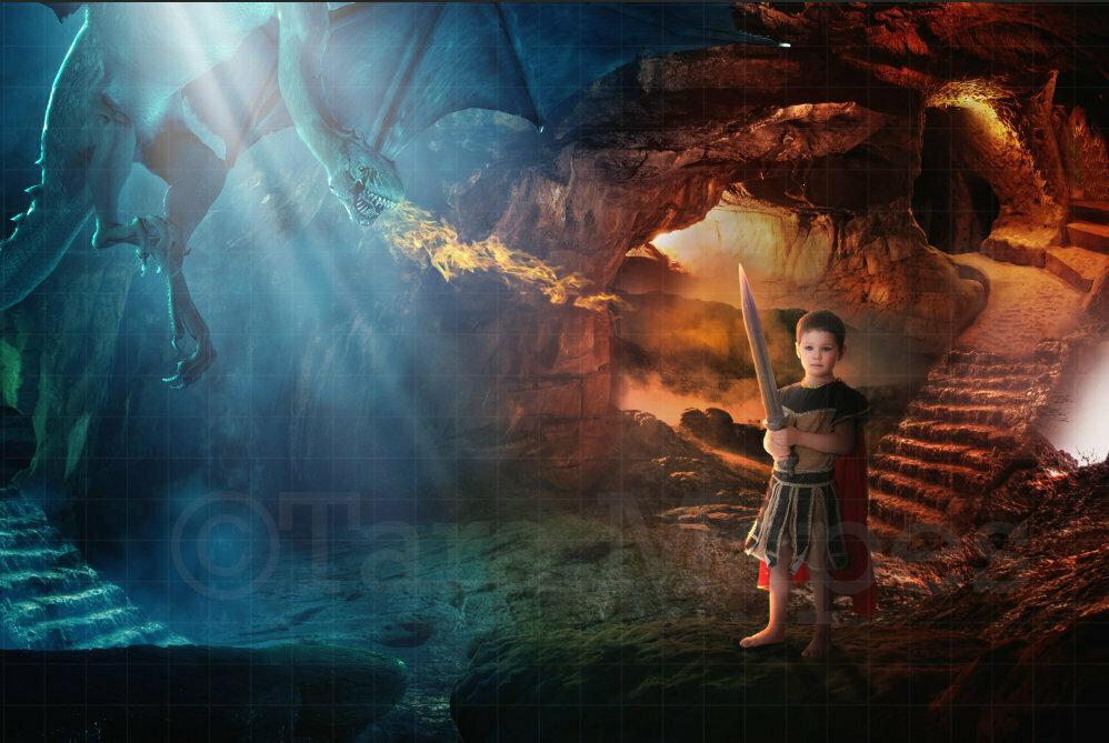 Dragon Cave Digital Background / Backdrop