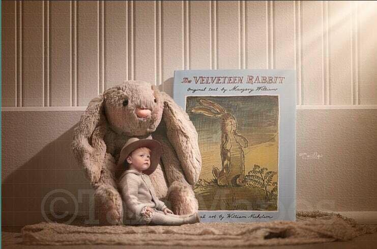 Velveteen Rabbit Digital Background / Backdrop