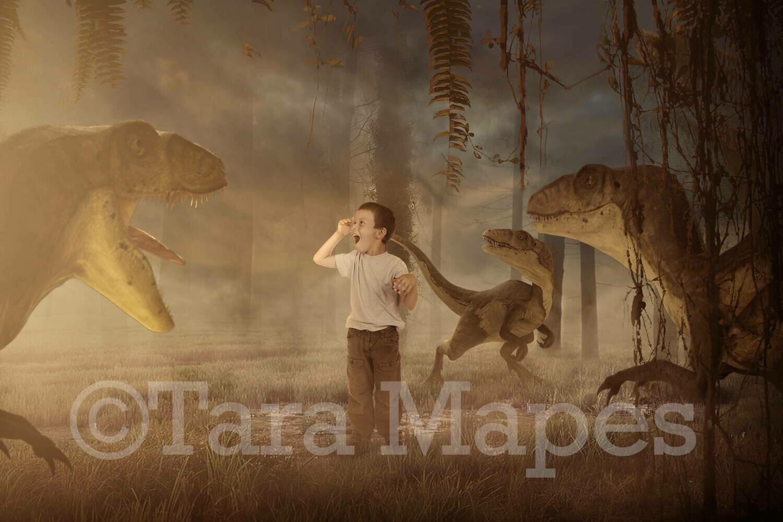 Dinosaurs in Prehistoric Park - Dinosaur Digital Background
