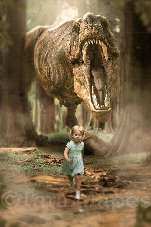 T-Rex Dinosaur Digital Background Backdrop