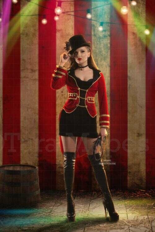 Vintage Circus Stripes Tent Background Digital Background Backdrop