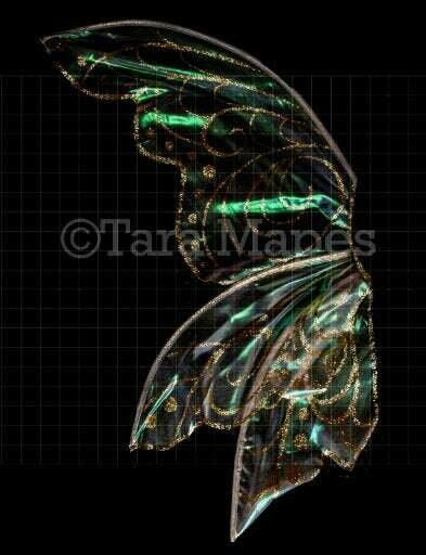 Iridescent Fairy Wing Overlay - Rainbow Glittery Fairy Wing Overlay - Fairy - Digital Wings - Sparkles Fairy Wing