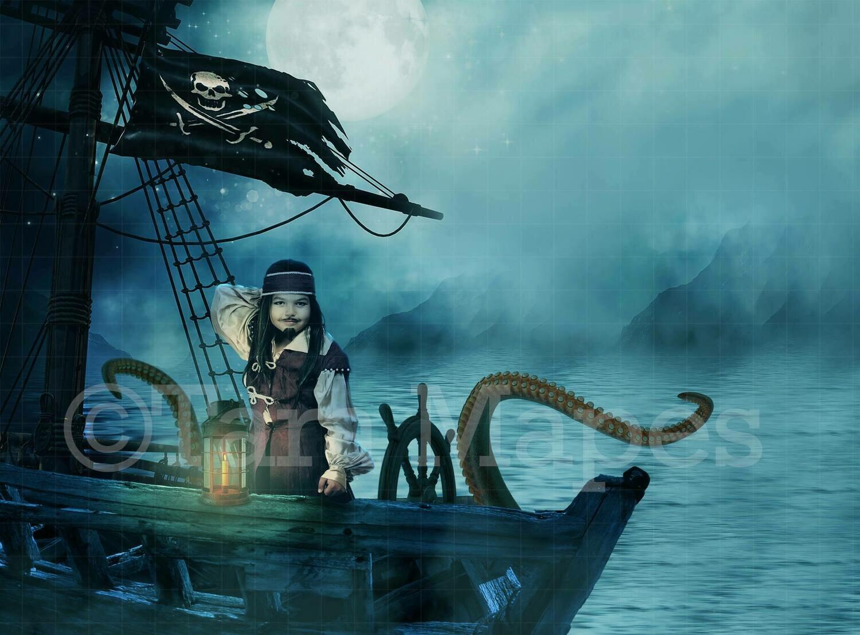 Pirate Ship Digital Background