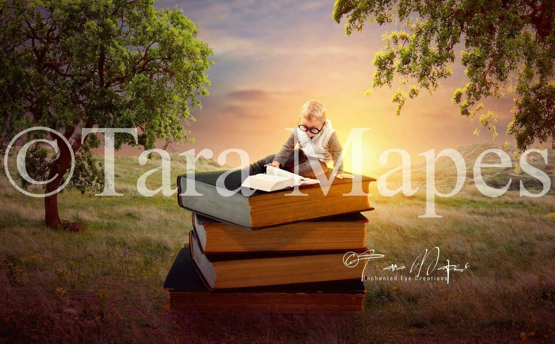 Book Worm Digital Background
