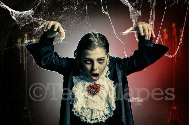 Background for Dracula or Witch - Spooky Kids Background -  Halloween Digital Background Backdrop