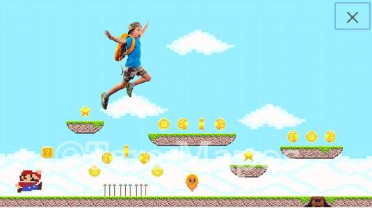 2 PACK Retro Video Game Digital Background / Backdrop