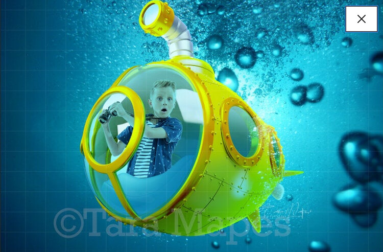 Yellow Submarine Digital Background / Backdrop