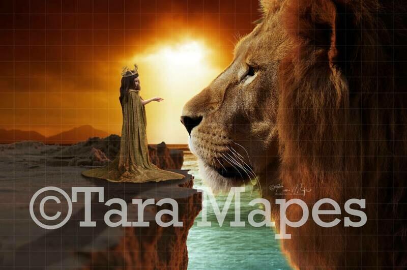 Big Lion by Cliff Digital Background
