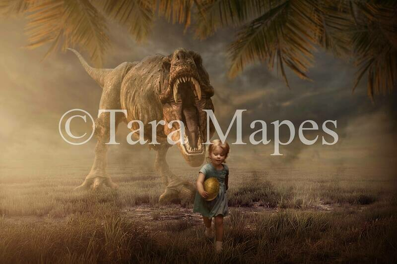 T-Rex Dinosaur Digital Background