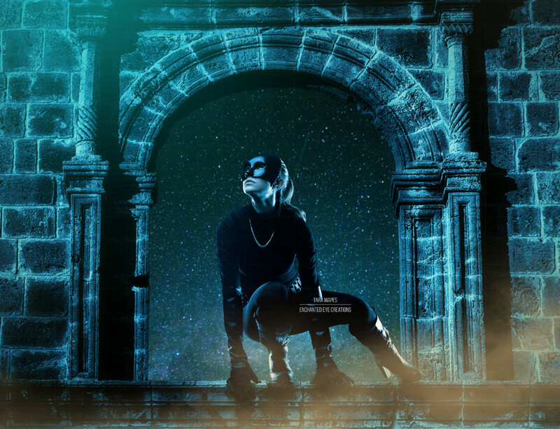 Superhero Window - Window Arch - Skyscraper - Tower Digital Background Backdrop