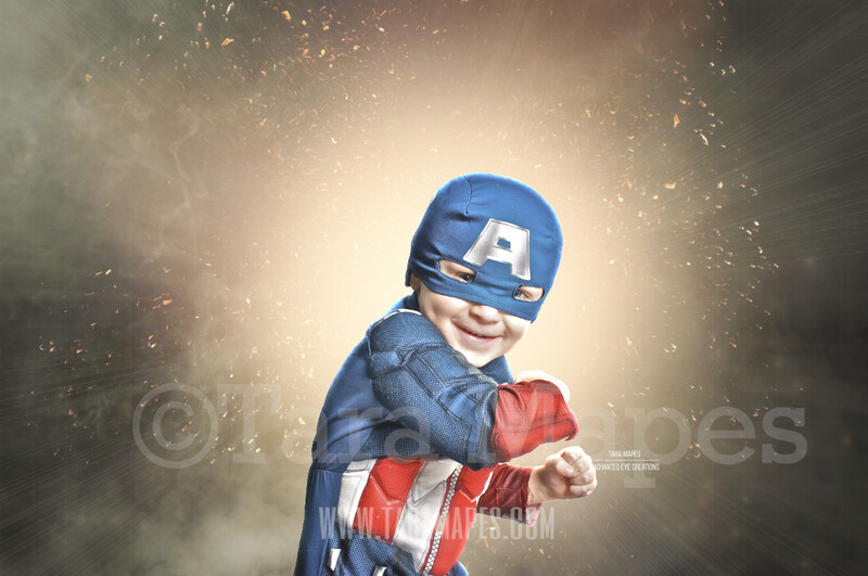 Superhero Smoke Explosion Digital Background Backdrop