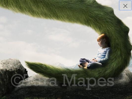 Dragon Tail  Digital Background / Backdrop