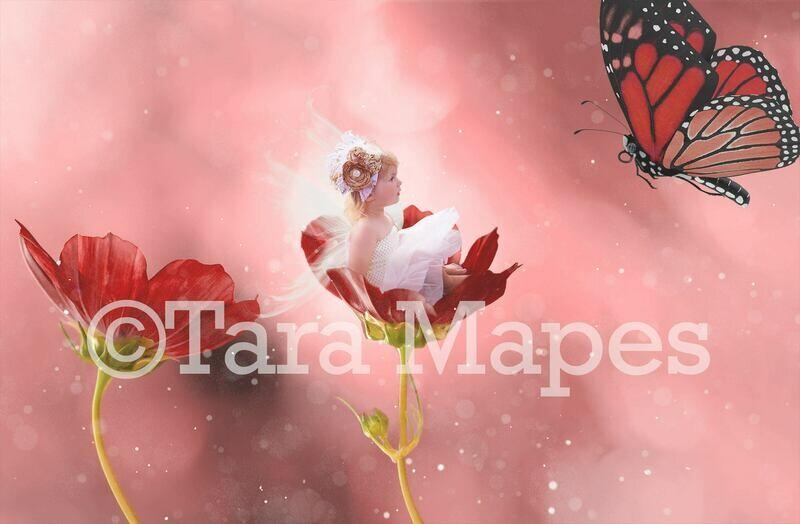 Fairy Flower Digital Background