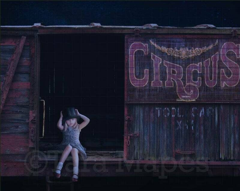 Circus Train Digital Background / Backdrop