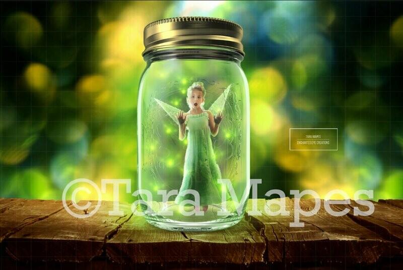 Firefly Fairy Digital Background Backdrop