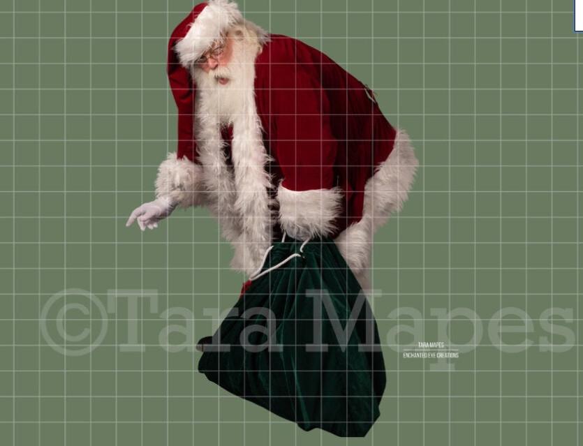 Santa Caught Overlay PNG - Santa Overlay - Santa Clip Art - Santa Cut Out  - Christmas Overlay - Santa PNG - Christmas Overlay