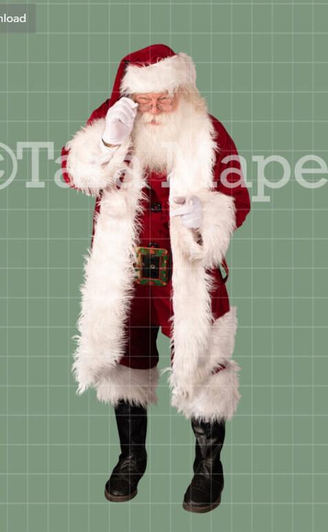 Santa Look Over Glasses Overlay PNG - Santa Overlay - Santa Clip Art - Santa Cut Out  - Christmas Overlay - Santa PNG - Christmas Overlay