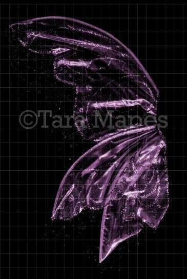 Pink Violet Glitter Fairy Wing Overlay - Rainbow Glittery Fairy Wing Overlay - Fairy  Digital Wings - Sparkles Fairy Wing