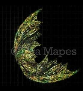 Iridescent Gold Fairy Wing Overlay - Rainbow Glittery Fairy Wing Overlay - Fairy Digital Wings - Sparkles Fairy Wing