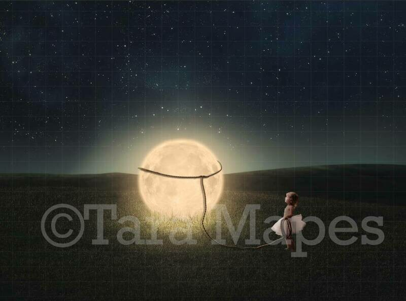 Lasso the Moon Digital Background