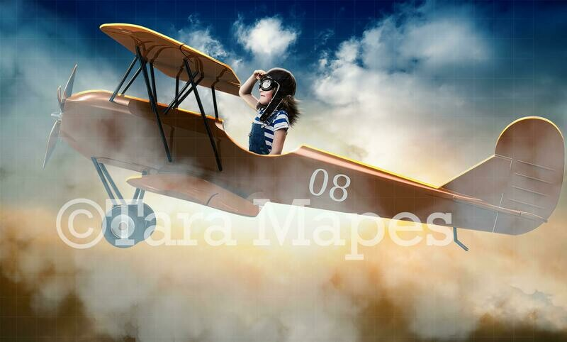 Toy Airplane Pilot Digital Background