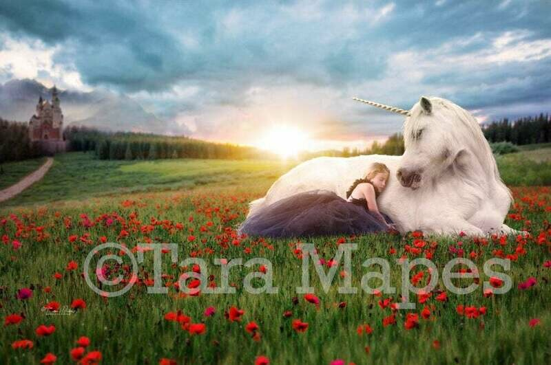 Unicorn by Castle Magic Field Digital Background